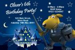 Personalised Knight in Armour Invitations
